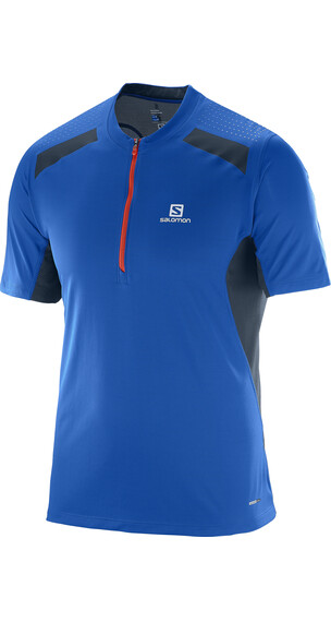 Salomon Fast Wing SS Tee Men blue yonder/big blue-x